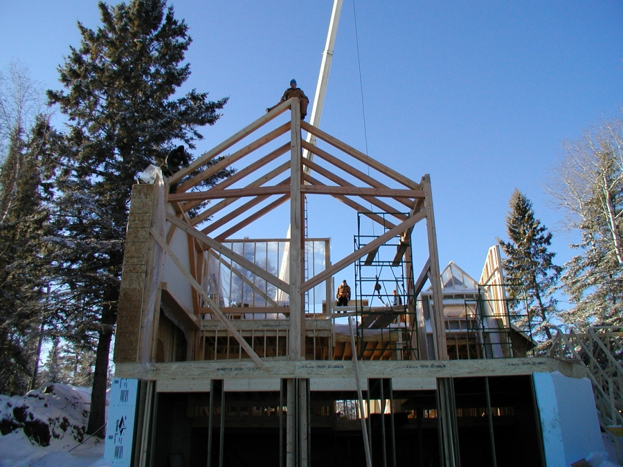 Construction process pine creek homes for Process of building a new house