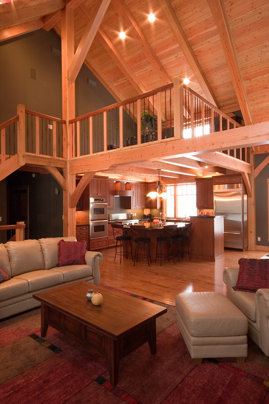 The process of building a timber frame home pine creek homes for What is the process of building a house