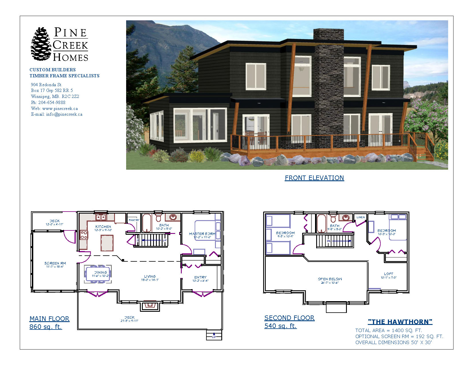 Hawthorn pine creek homes for Cost to build a 1400 sq ft house