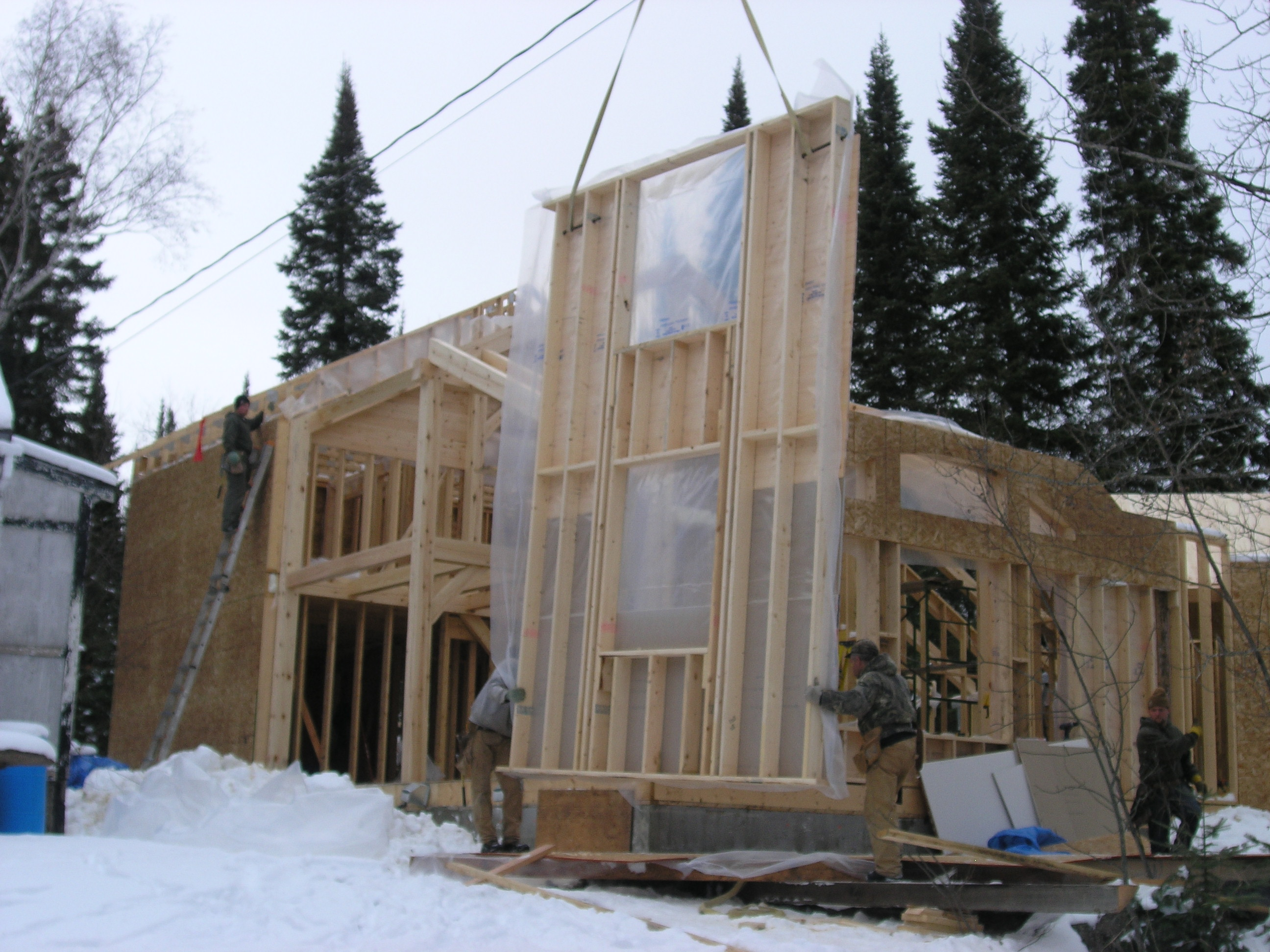 Is it safe to build a home in the winter pine creek homes for Save money building a house