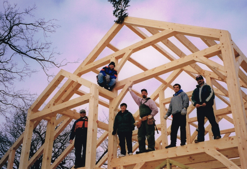 The process of building a timber frame home pine creek homes for The process of building a house