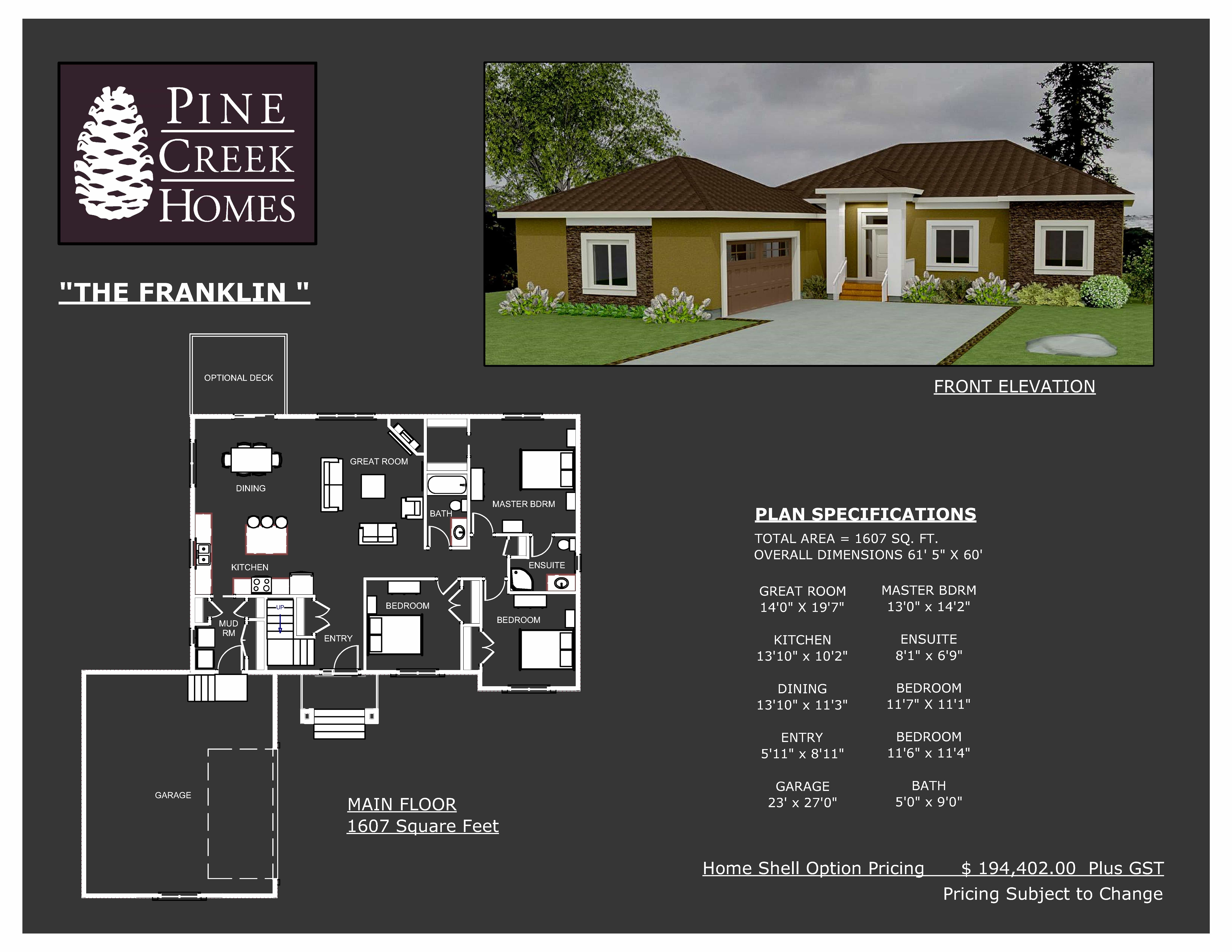 Franklin Home Shell Option